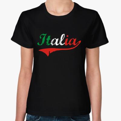 Женская футболка  Италия