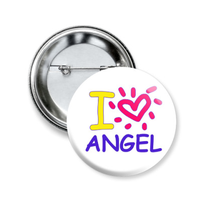 Значок 50мм Supernatural - I love Angel