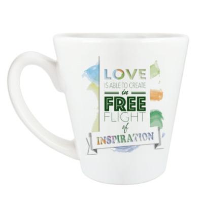 Чашка Латте Свободный полет