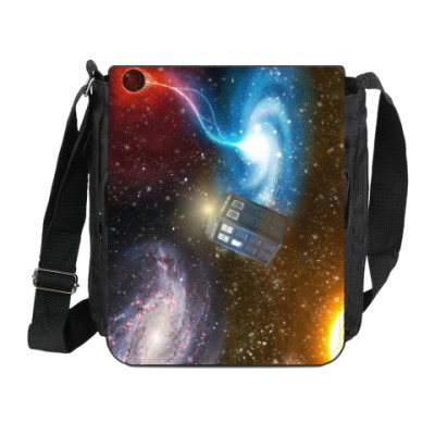 Сумка на плечо (мини-планшет) Тардис в космосе
