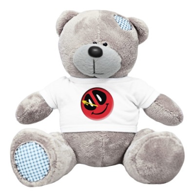 Плюшевый мишка Тедди Deadpool значок Комедианта