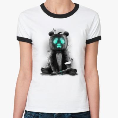 Женская футболка Ringer-T Пандаллоуин