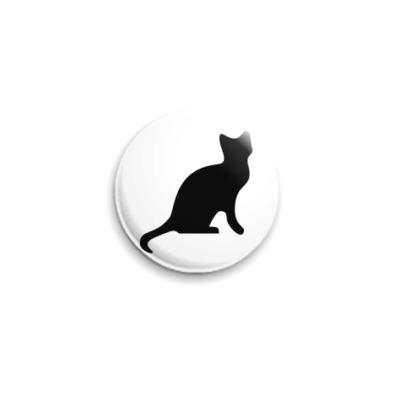 Значок 25мм кошка