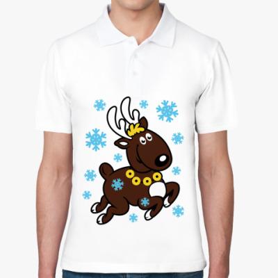 Рубашка поло Олень с бубенцами