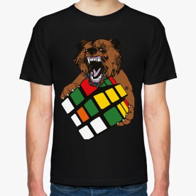 Футболка Медведь и кубик Рубика