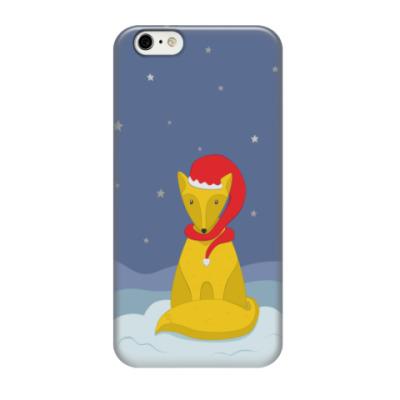 Чехол для iPhone 6/6s Новогодний лис