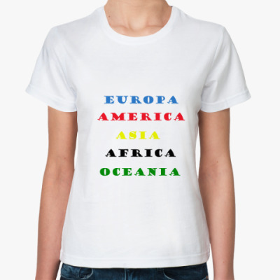 Классическая футболка Continents