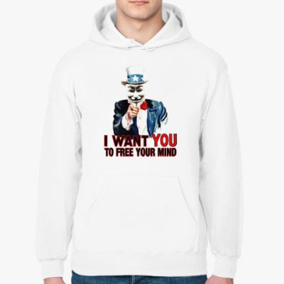 Толстовка худи Anonymous Uncle Sam