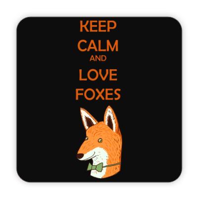Костер (подставка под кружку) Любовь к лисичкам