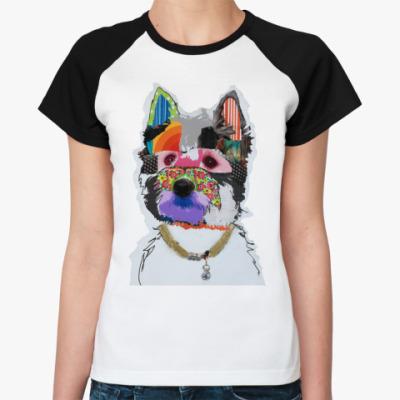 Женская футболка реглан Dog