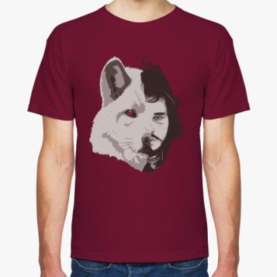 Футболка Волк Джон Сноу