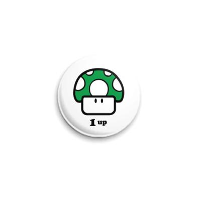 Значок 25мм  Mario Mashroom