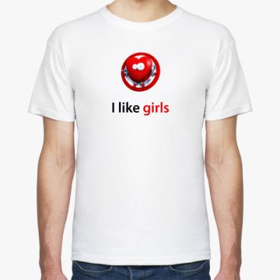 Футболка I like girls