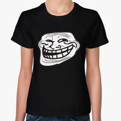 Женская футболка TrollFace