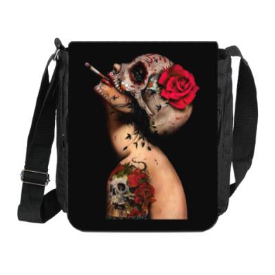 Сумка на плечо (мини-планшет) Sugar skull girl