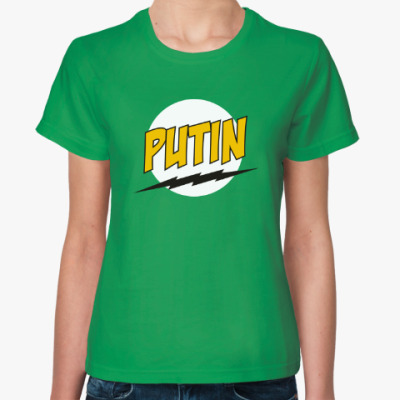 Женская футболка Путин в стиле Базинги