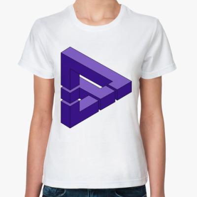 Классическая футболка Optical illusion