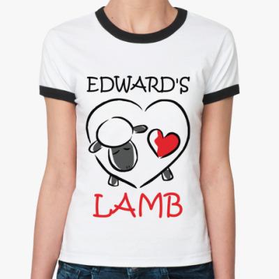 Женская футболка Ringer-T Edward's lamb