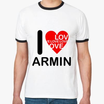 Футболка Ringer-T I Love Armin