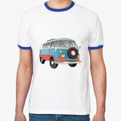 Футболка Ringer-T Volkswagen Kombi Camper BUS