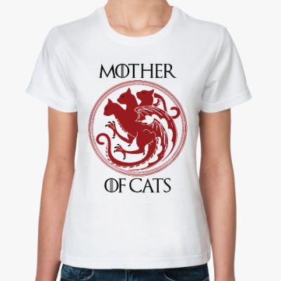 Классическая футболка Мать кошек