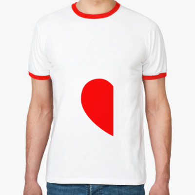 Футболка Ringer-T Половинка сердца