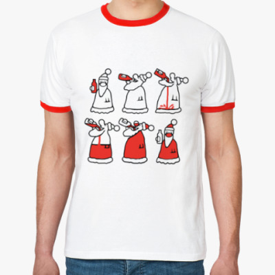 Футболка Ringer-T Как стать Дедом Морозом
