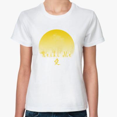 Классическая футболка ReikiMe и иероглиф Любовь