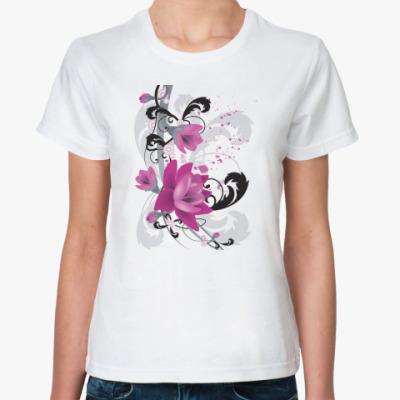 Классическая футболка Пурпурные Цветы