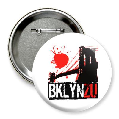 Значок 75мм Brooklyn Zu
