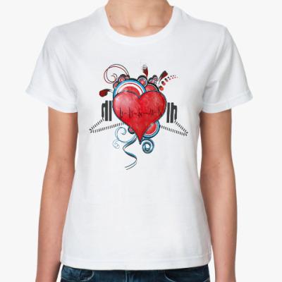 Классическая футболка Страстное сердце