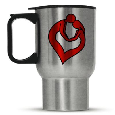 Кружка-термос пара сердце