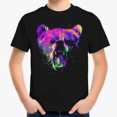 Детская футболка Абстрактный медведь
