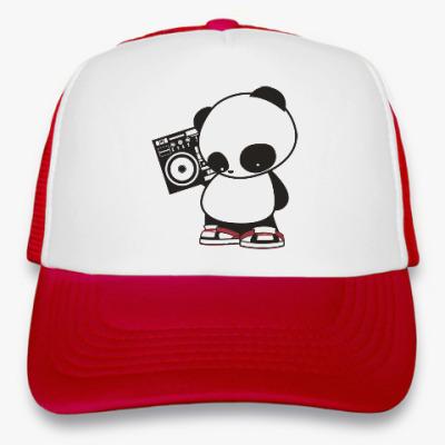 Кепка-тракер Панда с магнитофоном