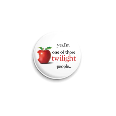 Значок 25мм Twilight people
