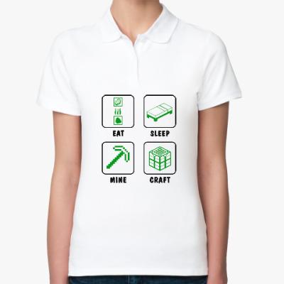 Женская рубашка поло Minecraft