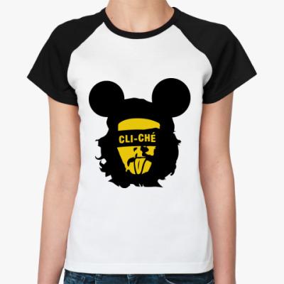 Женская футболка реглан Cli Che Guevara