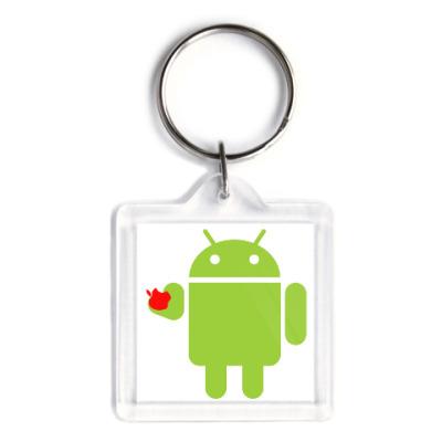 Брелок Андроид с яблоком