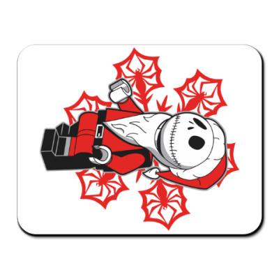 Коврик для мыши Санта скелет