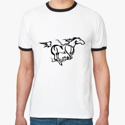 Футболка Ringer-T лошадь
