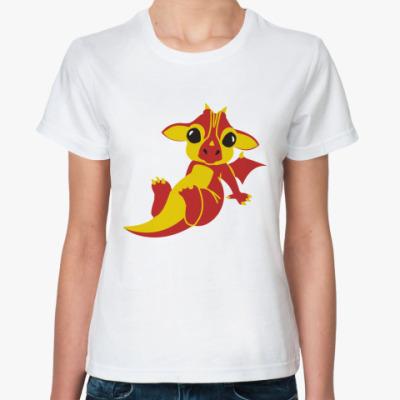 Классическая футболка Дракончик