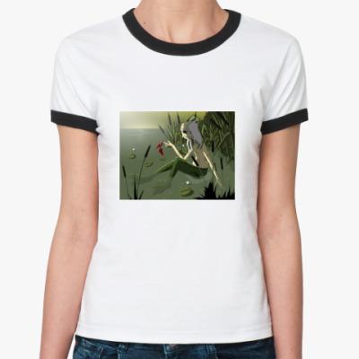 Женская футболка Ringer-T  «Водяной»