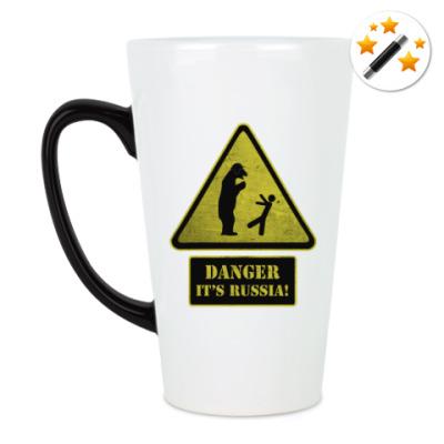 Кружка-хамелеон Danger It's Russia