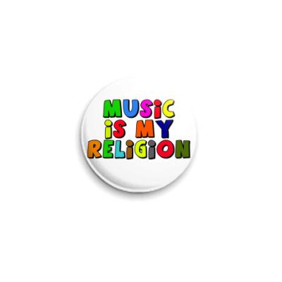 Значок 25мм Music