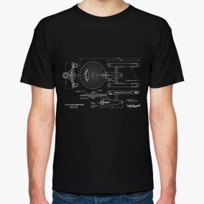 Футболка Схема USS Enterprise Star Trek
