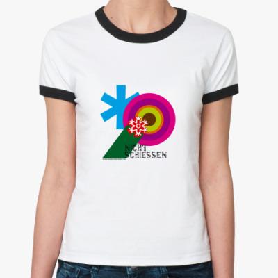 Женская футболка Ringer-T nicht schiessen RT