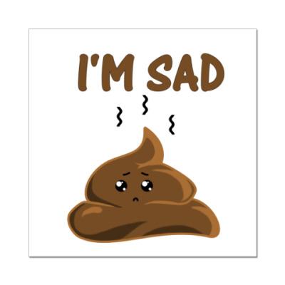 Наклейка (стикер) I'm sad shit