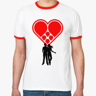 Футболка Ringer-T Любовная пара