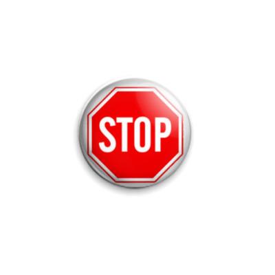 Значок 25мм 'Stop'