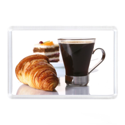 Магнит Кофе и круасан